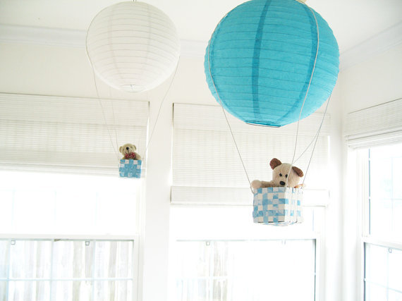 Simply Chic Lily Hot Air Balloon Mobiles ($50)
