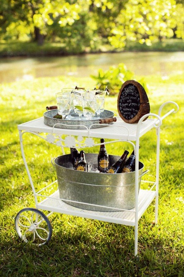 Old School Bar Cart