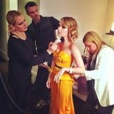 Emma Roberts got dolled up for the Met Gala.