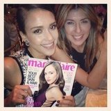 Jessica Alba posted a picture of herself on the cover of Marie Claire US.