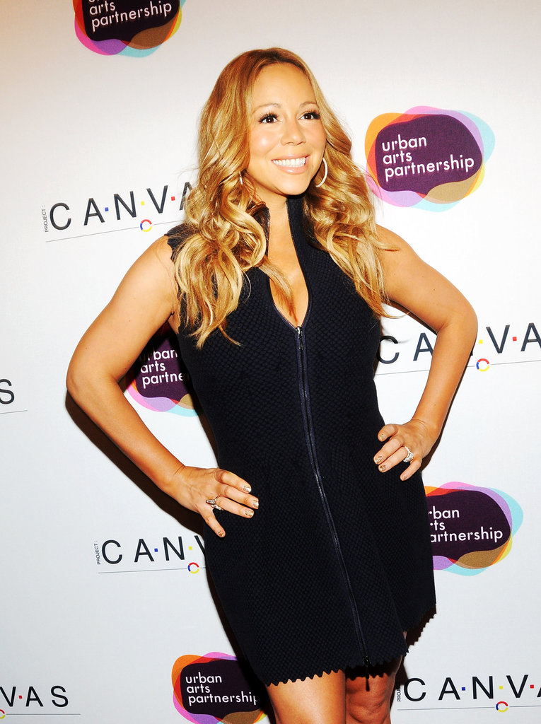 Mariah Carey struck a pose at the Project Canvas Exhibition & Art Gala in NYC.