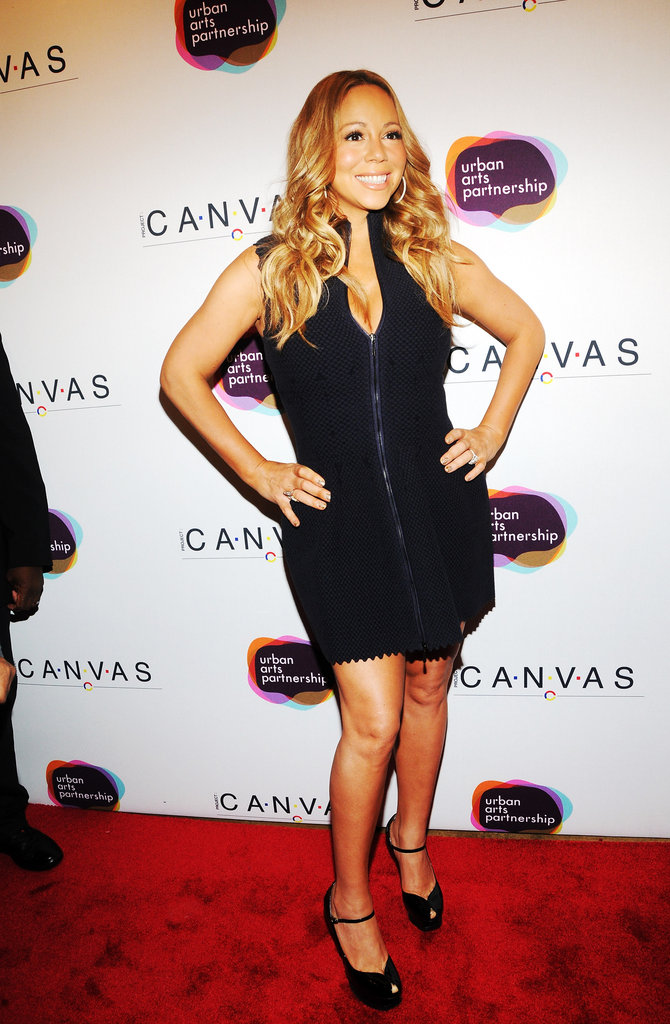 Mariah Carey wore an LBD for the Project Canvas Exhibition & Art Gala in NYC.