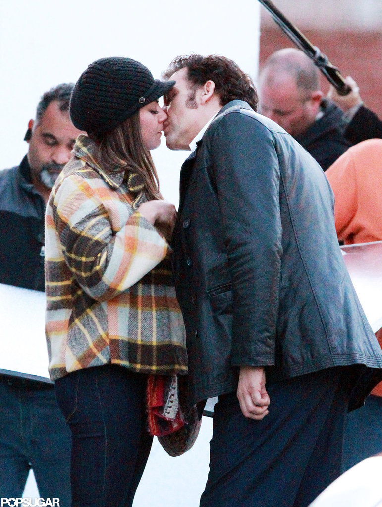 Mila Kunis and Clive Owen made out on the set of Blood Ties in NYC.
