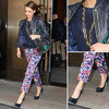 Get The Look Jessica Alba Wears Navy In NYC