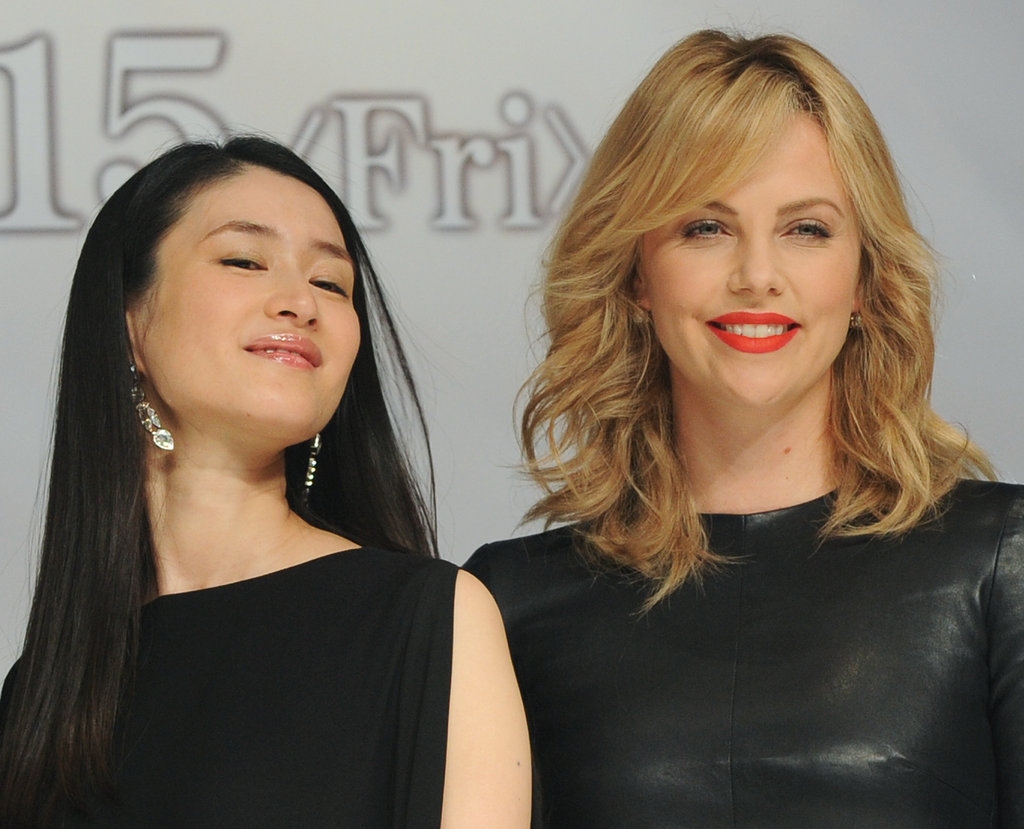 Charlize Theron traveled to Tokyo to promote the film.