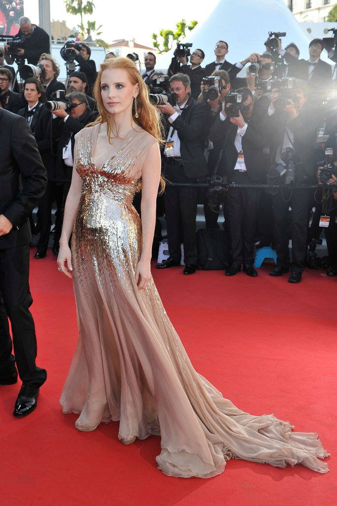 Jessica Chastain's Gucci dress featured a gorgeous sweeping train.