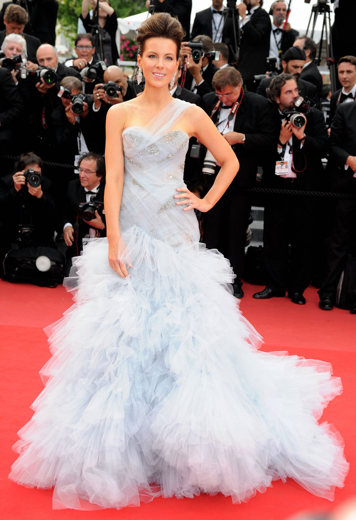 Kate Beckinsale floated down the red carpet in a pale-blue gown for the opening-night premiere of Robin Hood during the 63rd annual International Cannes Film Festival in 2010.