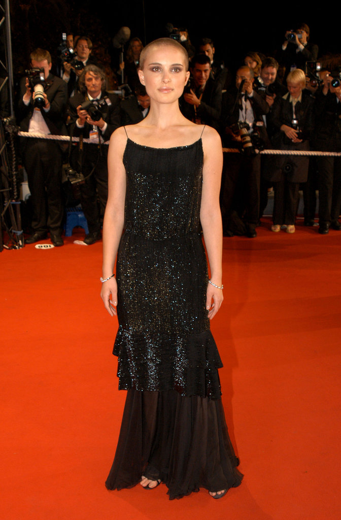 Natalie Portman showed off her buzz cut during the Cannes Film Festival Kiss Kiss Bang Bang premiere in 2005.