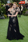 Kristen Stewart and Charlize Theron hugged on the red carpet.