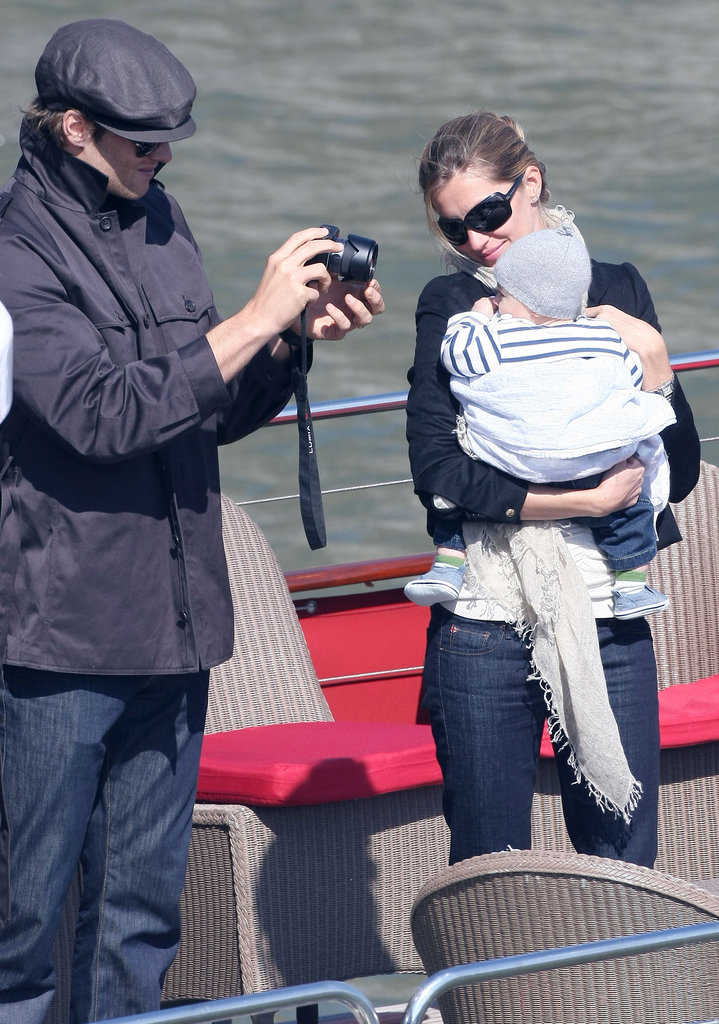Gisele Bundchen and Tom Brady took a boat ride in Paris in 2010, and took sweet photos of their baby son Benjamin.
