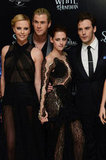 Kristen and Charlize Continue Their SWATH Love With the Cast