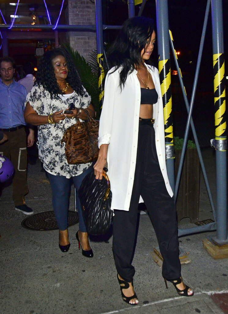 Rihanna took her mom to dinner in NYC.