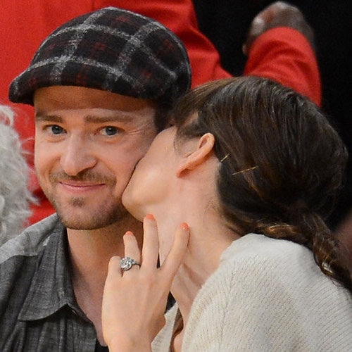 Justin Timberlake and Jessica Biel Kissing (Video)