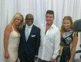 Britney Spears shared a photo with her X Factor castmates L.A. Reid, Simon Cowell, and Demi Lovato. Source: Facebook User Britney Spears
