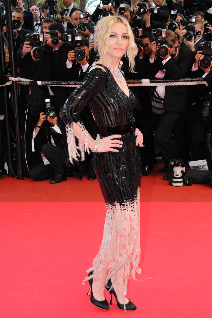Madonna struck a pose at the I Am Because We Are premiere during the 61st International Cannes Film Festival in 2008.