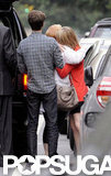 Emma Stone shared a hug with her mom accompanied by Andrew Garfield in NYC.