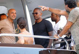 Jamie Foxx hit the high seas on a yacht in St. Tropez with friends in July 2011.