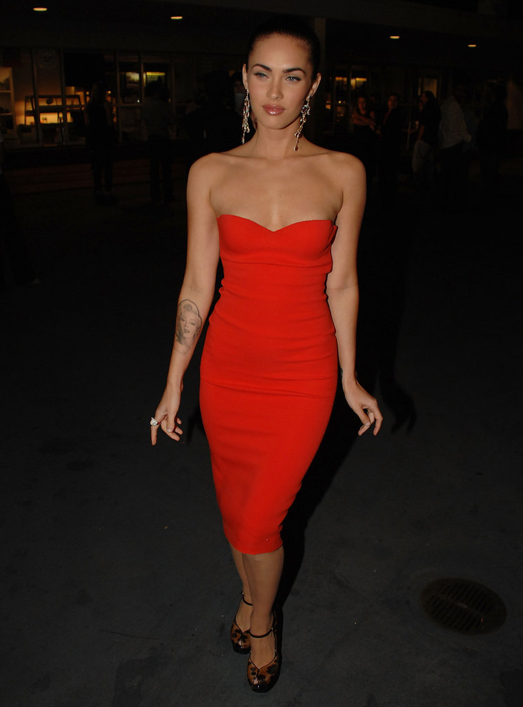 Megan Fox went red for the October 2007 Spike TV Scream Awards.