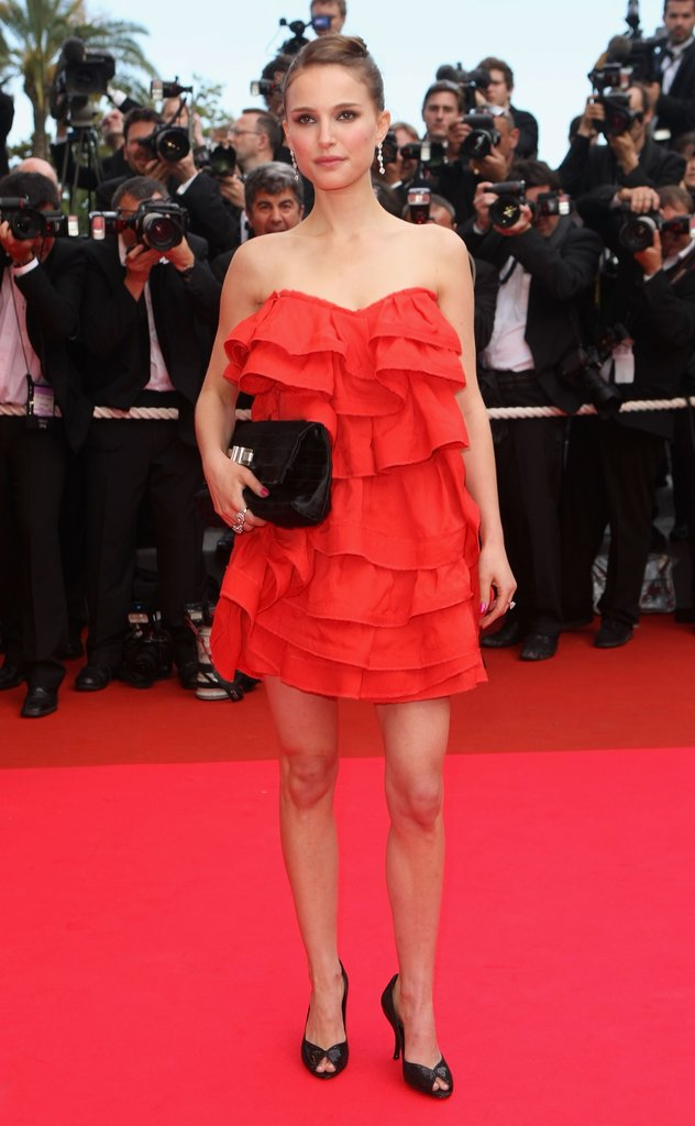 Natalie Portman matched the red carpet at the premiere of Che  during the 61st International Cannes Film Festival in 2008.