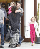 Ben Affleck Has a Busy Saturday With Violet and Seraphina
