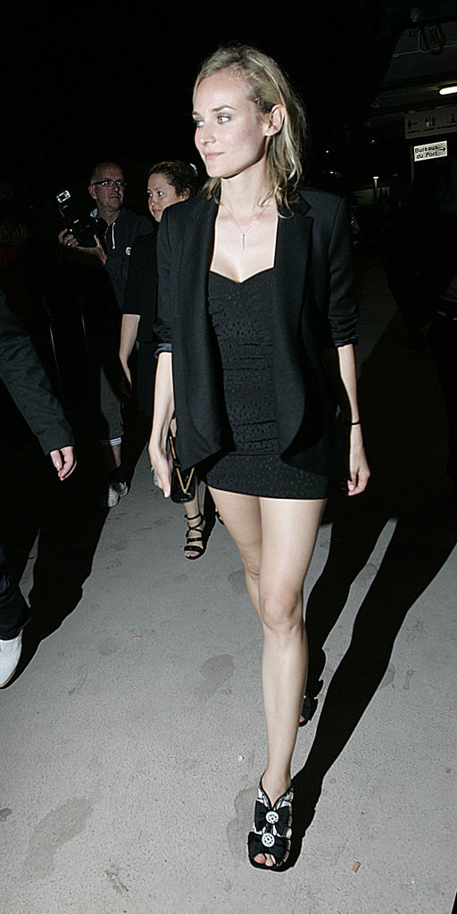 For a yacht party evening in 2009, Diane slipped into something much more body conscious and sexy. We love her eclectic choice in shoes to offset the sleek LBD silhouette.