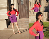Embrace the season's call to color and its most feminine silhouette with a bold-hued peplum skirt that you could style up just as easily for an event as you could for your nine-to-five. Photo courtesy of Lookbook.nu