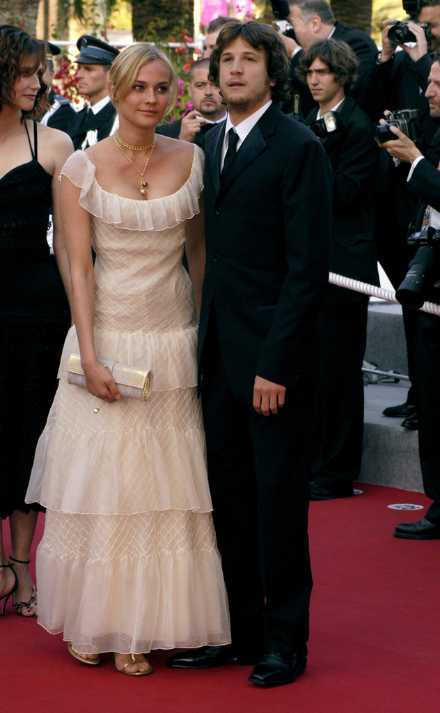 She donned an ivory-hued ruffled gown for a Cannes appearance in 2003.
