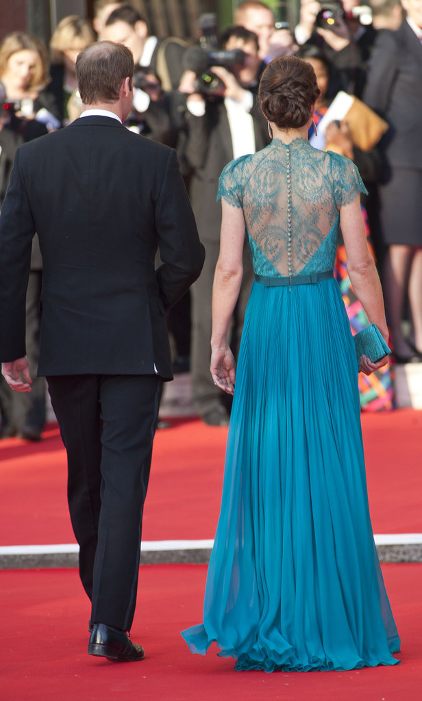 The back of Kate's gown was finished with an ultrafemme lace panel.