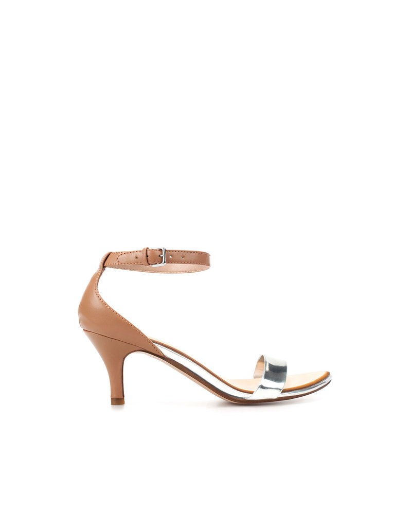 The metallic detail makes this pair dressy enough to add to any cocktail-party or Summer-wedding look.  Zara Shiny Strappy Sandal ($50)