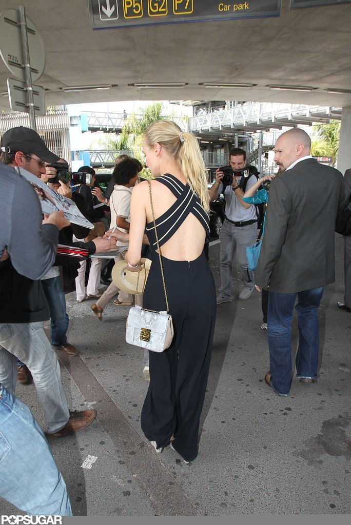 Diane Kruger stopped to sign autographs.