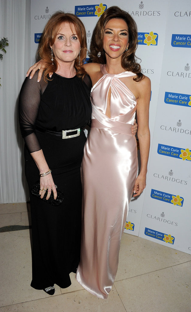 Sarah Ferguson and Heather Kerzner posed together at the Marie Curie Cancer Care Fundraiser in London.