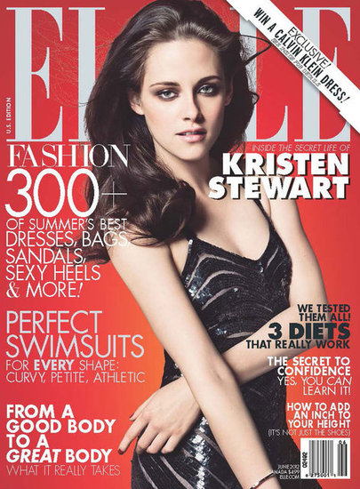 Kristen Stewart on the cover of June 2012 Elle.