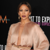 Jennifer Lopez in Maria Lucia Hohan at LA Premiere