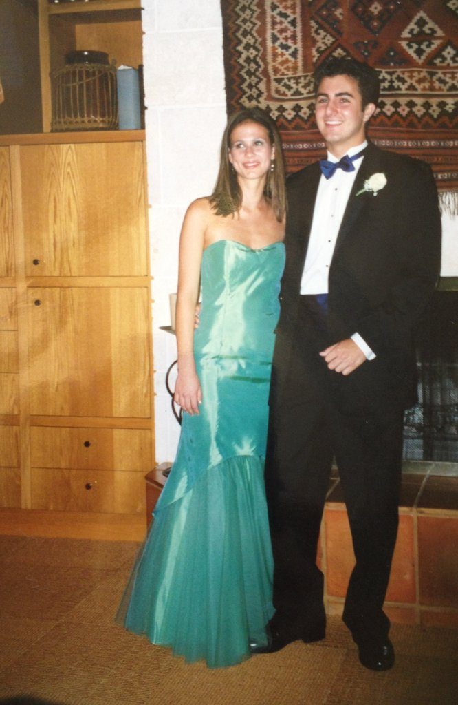 """I was so in love with the shape of this Jessica McClintock dress. I thought the mermaid silhouette was so glamorous, and I loved the bit of tulle on the bottom. It was my first time at prom (going as a sophomore with my boyfriend at the time, who was a senior), and I wanted to totally do it up. I remember stepping out to show off the dress to my date and my parents — it was such a huge moment . . . the big reveal. I loved it."" — Hannah Weil, Fashion associate editor"