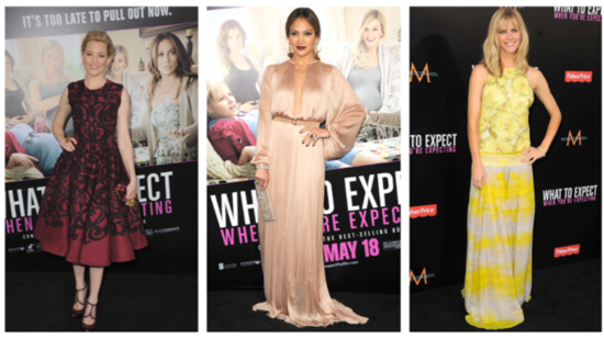 Jennifer Lopez Leads the Fashion Pack at the What to Expect When You're Expecting Premiere