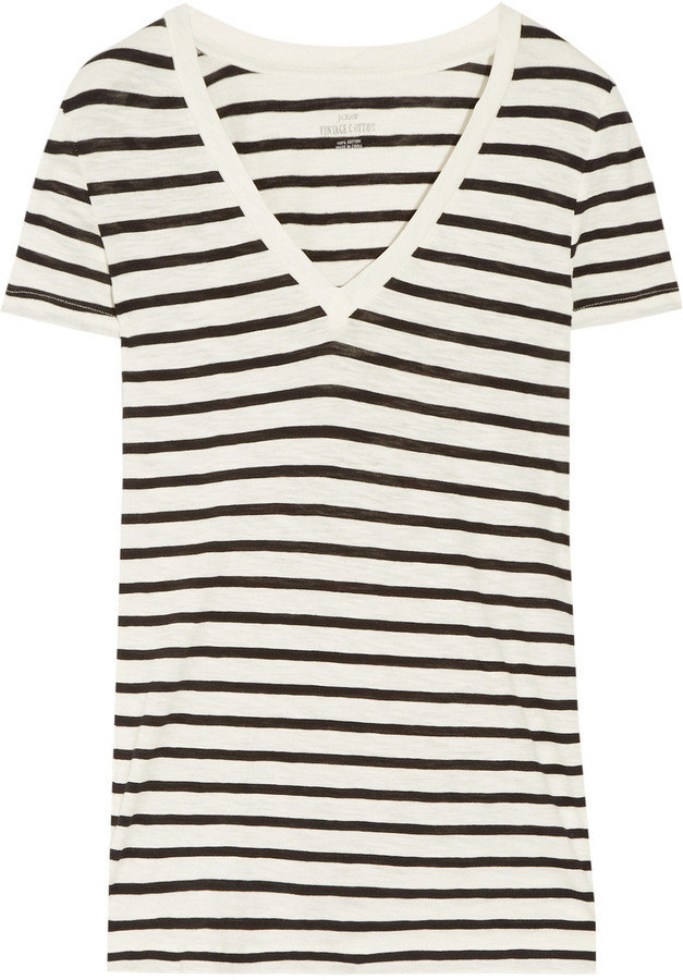 The quintessential striped t-shirt; wear this with jeans, or tuck it into a pencil skirt.  J.Crew Vintage Striped Cotton T-Shirt ($35)
