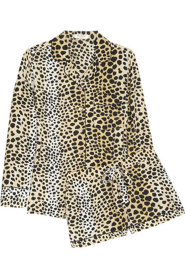Equipment Leopard-Print Washed-Silk Pajamas ($455)