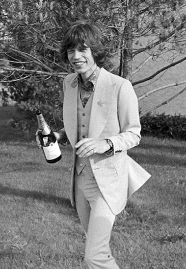 Mick Jagger's Lone Toast