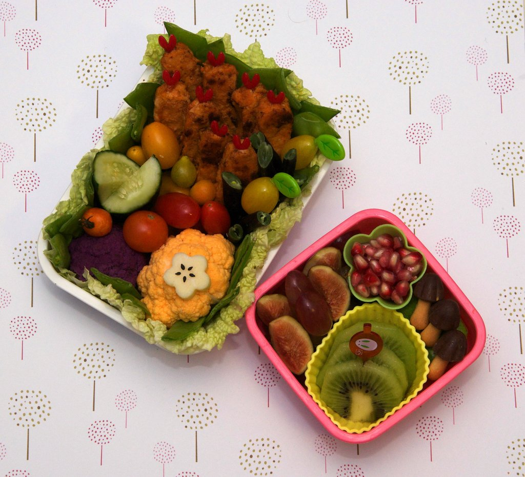 Vegetarian Buffalo Wing Bento