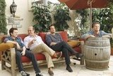 Dan Byrd, Ian Gomez, Josh Hopkins, and Brian Van Holt on Cougar Town. Photo copyright 2012 ABC, Inc.