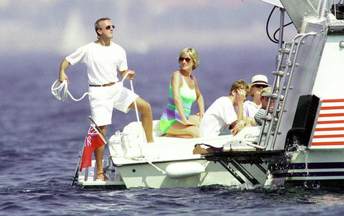 Princess Diana escaped to St. Tropez for a trip in July 1997.