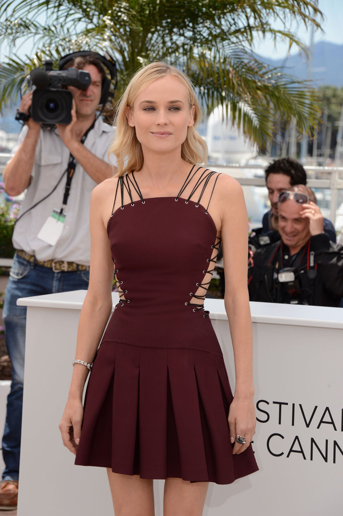 Diane Kruger donned a sexy Versus dress at the Cannes Film Festival jury photocall.