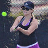 Pregnant Reese Witherspoon Playing Tennis in Skirt Pictures