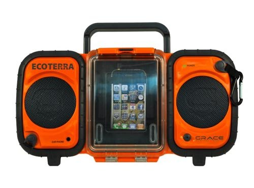 Grace Digital Audio's Eco Terra Boom Box ($150) is waterproof and — get this — floatable, too! Securely store your touchscreen iPhone or iPod Touch under the waterproof storage area. The boom box even includes an internal waterproof compartment to store other goods like a wallet.