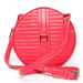 Soup up the brightness factor on your circle bag by way of this bold coral pink color.