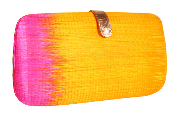 Next time you pull out that LWD, just add this ombré clutch into the mix.  Rebecca Minkoff Oversized Minaudiere ($295)