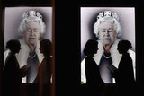 "The public took in an image of Her Majesty Queen Elizabeth II by artist Chris Levine titled ""Lightness of Being."""