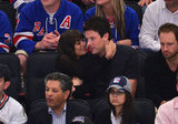 Lea Michele and Cory Monteith showed PDA in the stands.