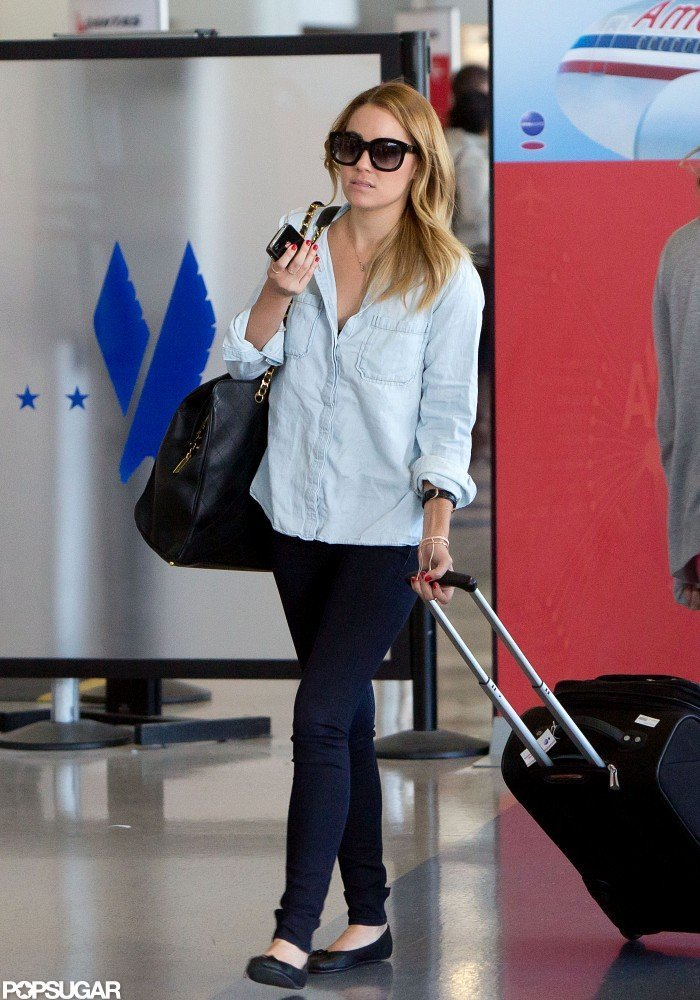 Lauren Conrad was off on a trip.