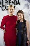 Charlize Theron and Kristen Stewart posed together at the Snow White and the Huntsman photocall in Madrid.
